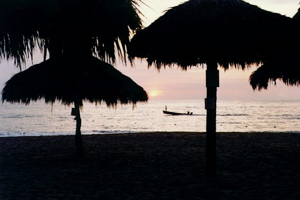 Dusk  on the Beach at Puerto Vallarta